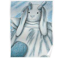 Blue Bunny Rabbit Poster