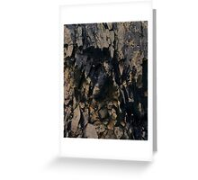 Abstract stone pattern - stone texture design - gold, black Greeting Card