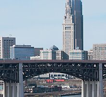 Cleveland From The Riverbank by StonePhotos