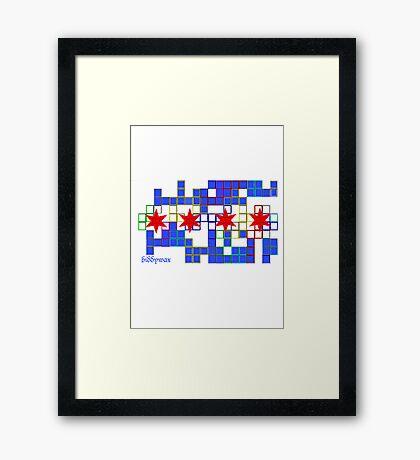 Tetris Chicago Framed Print