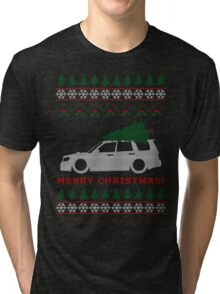 Forester Ugly Christmas Sweater (SG5) Tri-blend T-Shirt