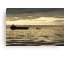 Freighter at Dusk Canvas Print