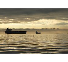 Freighter at Dusk Photographic Print