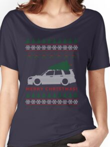 Forester Ugly Christmas Sweater (SG9) Women's Relaxed Fit T-Shirt