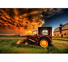 Storm Clouds Saskatchewan Canada Photographic Print