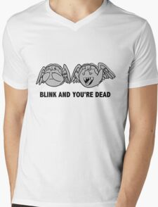 Blink And You're Dead Mens V-Neck T-Shirt