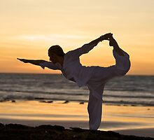 Sunset Yoga by AMPMphotography