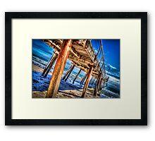 Under Henley Beach Jetty Framed Print