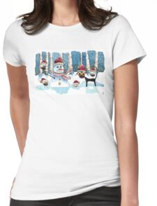 Fun in the snow Womens Fitted T-Shirt