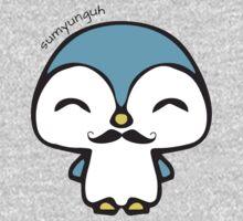 Mustache Penguin Kawaii One Piece - Short Sleeve