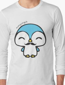 Mustache Penguin Kawaii Long Sleeve T-Shirt