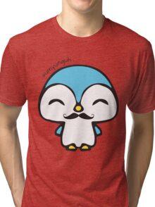 Mustache Penguin Kawaii Tri-blend T-Shirt