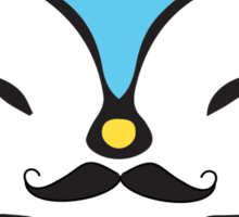 Mustache Penguin Kawaii Sticker