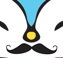 Mustache Penguin Kawaii Sticker