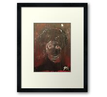 afro zombie Framed Print