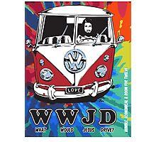 WWJD  ? tie dye Photographic Print