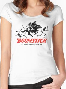 BOOMSTICK REPEATING ARMS!!  Women's Fitted Scoop T-Shirt
