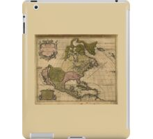 North America Map (Amerique Septentrionale) by Alexis Jaillot (1694) iPad Case/Skin
