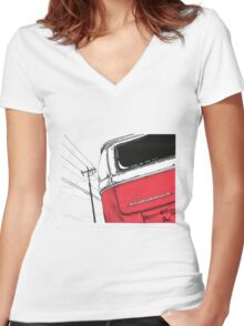 Red Bay Women's Fitted V-Neck T-Shirt