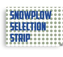 Snowplow Selection Strip Canvas Print