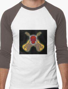 Guitar and Skull Men's Baseball ¾ T-Shirt
