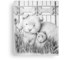 Dog And Hamster Canvas Print