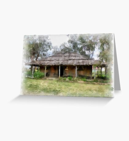 Old Pioneer Home Greeting Card