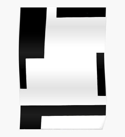 Abstract Rectangles Poster