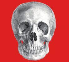 Albinus Skull 01 - Back To The Basic - White Background One Piece - Short Sleeve