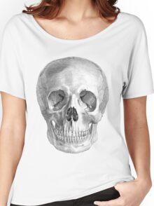 Albinus Skull 01 - Back To The Basic - White Background Women's Relaxed Fit T-Shirt