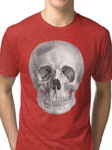 Albinus Skull 01 - Back To The Basic - White Background Tri-blend T-Shirt