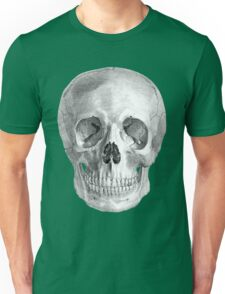 Albinus Skull 01 - Back To The Basic - White Background Unisex T-Shirt