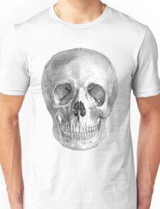Albinus Skull 01 - Back To The Basic - White Background Unisex T-Shirt