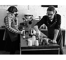 Busy time at coffee shop Photographic Print