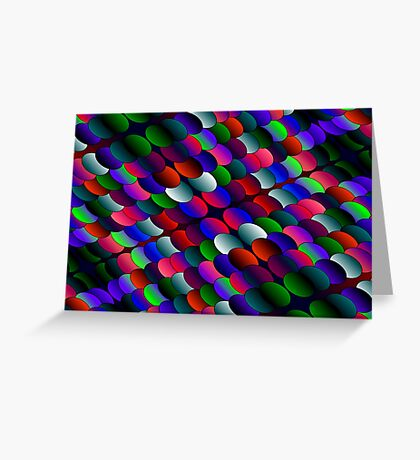 coloured layers Greeting Card