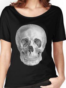 Albinus Skull 01 - Back To The Basic - Black Background Women's Relaxed Fit T-Shirt