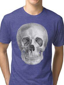 Albinus Skull 01 - Back To The Basic - Black Background Tri-blend T-Shirt