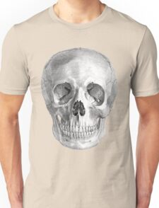 Albinus Skull 01 - Back To The Basic - Black Background Unisex T-Shirt