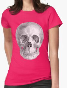 Albinus Skull 01 - Back To The Basic - Black Background Womens Fitted T-Shirt