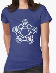 Rock Paper Scissors Lizard Sheldon Womens Fitted T-Shirt