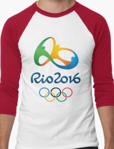 Rio De Janeiro Rio 2016 Olympics Men's Baseball ¾ T-Shirt