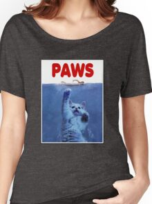 PAWS! JAWS Parody When Cats Attack Women's Relaxed Fit T-Shirt
