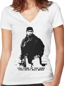 The Wire Omar Little Quote Women's Fitted V-Neck T-Shirt