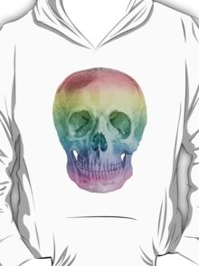 Albinus Skull 02 - Over The Rainbow - White Background T-Shirt