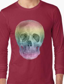 Albinus Skull 02 - Over The Rainbow - White Background Long Sleeve T-Shirt