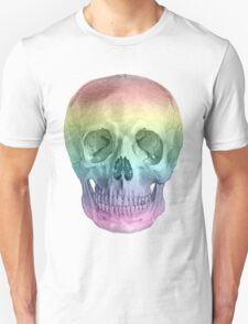 Albinus Skull 02 - Over The Rainbow - White Background Unisex T-Shirt