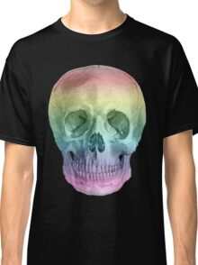 Albinus Skull 02 - Over The Rainbow - Black Background Classic T-Shirt