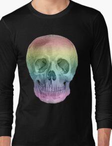 Albinus Skull 02 - Over The Rainbow - Black Background Long Sleeve T-Shirt