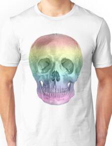 Albinus Skull 02 - Over The Rainbow - Black Background Unisex T-Shirt