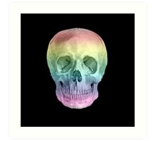 Albinus Skull 02 - Over The Rainbow - Black Background Art Print